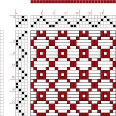 draft image: 7 schäftig mit 7 Karten 18, Lehr-Methode der Weberei, Ferdinand A. Langewald, 4S, 4T