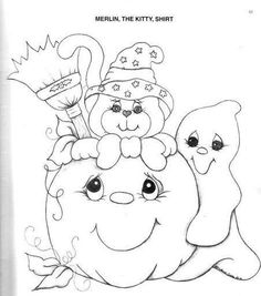 riscos Fall Coloring Pages, Coloring For Kids, Free Coloring, Adult Coloring Pages, Coloring Books, Moldes Halloween, Adornos Halloween, Manualidades Halloween, Painting Templates