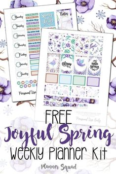 the season with this free Joyful Spring Weekly Planner Kit. Gorgeous way to get your planners ready for Spring.Celebrate the season with this free Joyful Spring Weekly Planner Kit. Gorgeous way to get your planners ready for Spring. To Do Planner, Passion Planner, Free Planner, Planner Pages, Happy Planner, Planner Ideas, Planner Diy, College Planner, College Tips