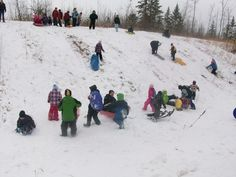Sledding - HUGE activity in Rangely.  This could be the Hospital Hill if it were a little longer.