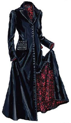 Victorian Evening Coat The J Peterman Company - Stylehive. Victorian Coat, Victorian Costume, Victorian Fashion, Gothic Fashion, Mode Steampunk, Steampunk Fashion, Gothic Steampunk, Style Emo, My Style