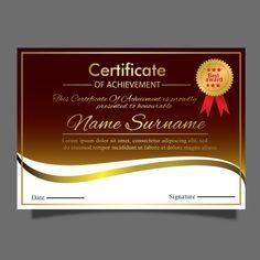 Luxury Gold Certificate Template For Multipurpose Diploma Award Graduation Ornament, Ribbon Png, Award Template, Document Printing, Certificate Templates, Floral Border, Vintage Frames, Gold Style, Lorem Ipsum