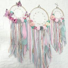 Flowers spring crafts beautiful ideas - Flowers spring crafts beautiful ideas You are in the right place about disney crafts H - Dream Catcher Craft, Dream Catcher Mobile, Dream Catchers, Diy And Crafts, Crafts For Kids, Arts And Crafts, Baby Shower Floral, Deco Boheme, Crafts Beautiful