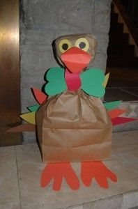 Thanksgiving Craft what else but a turkey!