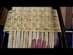 How to Weave Wide Binding Cane in the Herringbone Pattern - YouTube