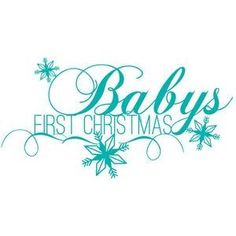 Silhouette Design Store - View Design #103063: babys first christmas flourish
