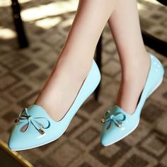 Sweet Womens Lolita Slip On Bowknot Girls Casual Shoes Candy Color Low Heel Gift