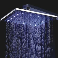 LED Light Showerhead - iVIP BlackBox
