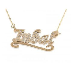 Gift yourself or someone special this 14K Solid Yellow Gold name necklace dazzles with Swarovski Stones and added with a Lower Line design.