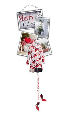 """""""Santa dress"""" by noconfessions ❤ liked on Polyvore featuring Melrose International, Yves Saint Laurent and Torula Bags"""