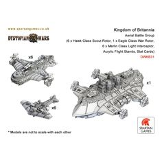 Kingdom of Britannia Aerial Battle Group - Dystopian Wars - http://www.spartangames.co.uk