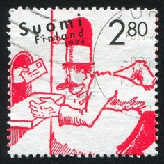 FINLAND - CIRCA 1994: Stamp Printed By Finland, Shows Moomin.. Royalty Free Stock Photo, Pictures, Images And Stock Photography. Image 14172496.