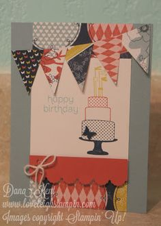 Stampin' Up! Pennant Make A Cake Card