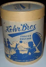 vintage ice cream containers