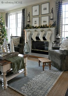 Holiday Home Tour 2015 – Family Room | The Endearing Home | Bloglovin'