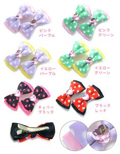 PARIS KIDS | Rakuten Global Market: Colorful polka dot Ribbon hairclip set 2 | Children's gifts kids hair accessories heaakuse kids ' hair clip Clip elementary school summer birthday present pariskids 02P30May15