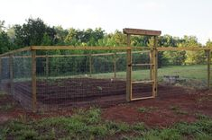 Garden fence idea...I want this for my garden! No more stepping over high rabbit fencing! Oh my goodness! If I put a roof on it the damn squirrels will stay out too!