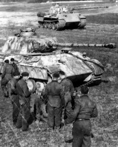 Panther Ausf G tanks of 5th SS Panzer Division 'Wiking'