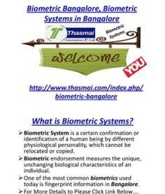 Biometric Bangalore, Biometric Systems in Bangalore