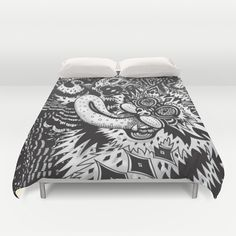 Domesticated (Afternoon in The Garden) Duvet Cover by Creative Cat's Studio - Tricia W. Beal - $99.00