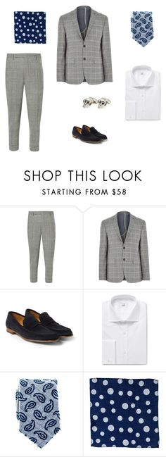 """Men's Sartorial Summer Dressing #3"" by blackcouk ❤ liked on Polyvore featuring Lardini, River Island, Paul Smith, Dunhill and Vasari"