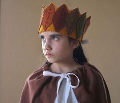 Waldorf Autumn Leaf Crown, Handmade With Wool Felt