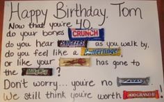 Birthday candy card, little different than the other ones I have pinned