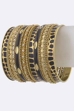 PRINT THEME ASSORTED BANGLE SET $25