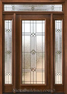 Exterior Doors with Sidelights - Solid Mahogany Entry Doors Oak Interior Doors, Double Doors Interior, Interior Exterior, Glass Pantry Door, Sliding Glass Door, Sliding Doors, Exterior Doors With Sidelights, Entry Doors, Vidro Art Deco