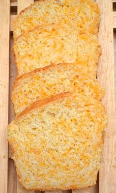 garlicky cheddar cheese quick bread ready in about an hour from start to finis A garlicky cheddar cheese quick bread ready in about an hour from start to finis. A garlicky cheddar cheese quick bread ready in about an hour from start to finis. Quick Bread Recipes, Bread Machine Recipes, Easy Bread, Cooking Recipes, Bread Rolls, Bread Baking, Bread Food, No Yeast Bread, No Rise Bread