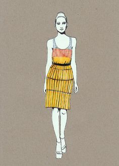Marco de Vincenzo 2010 collection Illustrations by Daphne van den Heuvel