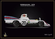 24h Le Mans, Martini Racing, Car Drawings, F1, Race Cars, Slot, Porsche, Posters, Cute Cars