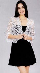 Discover thousands of images about News Crochet Bolero Pattern, Gilet Crochet, Crochet Jacket, Crochet Blouse, Crochet Poncho, Frock Fashion, Designs For Dresses, Crochet Fashion, Crochet Clothes