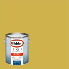 Glidden High Endurance Paint, Pirate Gold #45YY 43/536 Semi-Gloss 1 Gallon (Base UPC 0113118434503) Color Pirate Gold