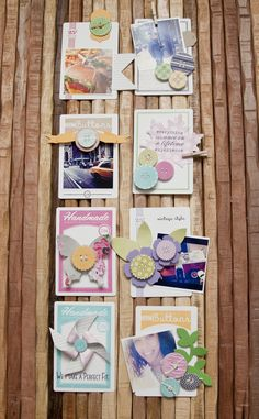 Embellished Button Cards by Ashley Cannon Newell for Papertrey Ink (November 2012)