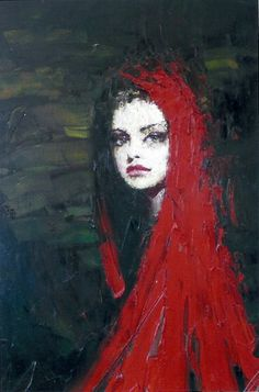 """Lady in Red"" Oil Taras Loboda"