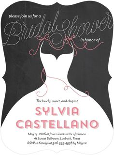 Super cute bridal shower invites!