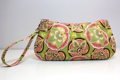 ZIP AND GO Wristlet / Amy Butler fabric by SweetPeaTotes on Etsy, $26.00