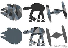 Star Wars paper pieced blocks
