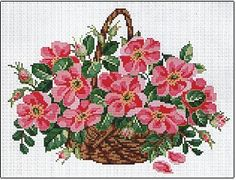 click here to view larger image of Wild Roses Basket (chart)