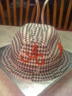 Houndstooth Hat Cake for The Alabama Crimson Tide!!