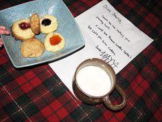 Letterina di Natale, latte e biscotti