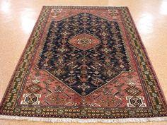 5 x 8 Persian QASHQAI TRIBAL Hand Knotted Wool BLUE RUST GREEN New Oriental Rug #Persian #TraditionalPersianOriental