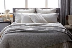 Sprang Matelassé Coverlet and Shams Linen Bedding, Bed Linens, Made In America, Beautiful Bedrooms, Cape Cod, Luxury Bedding, Interior Design, Giza, Antiques