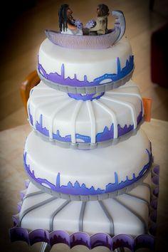 Venice all the way , weddingcake