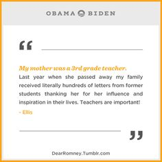 Great teachers change lives for years to come. If one of your teachers made a difference for you, tell your story here: http://OFA.BO/Xf8B5R