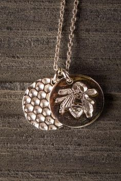 Hive and Honey Bee Necklace - Bourbon & Boots