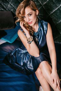 Portraits of Alise Trautmane for Santa magazine January issue 2015. Photographer: Aiga Rēdmane Style: Agija Vismane Hair&make-up: Aija Ūdentiņa Jewelry : SILDARE jewelry Location: Inspira