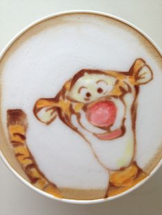 Tiger Latte Art. I would not want to mess it up→follow← my board ♡ͦ* ¢σffєє σвѕєѕѕє∂ ♡ͦ* @ ★☆Danielle ✶ Beasy☆★