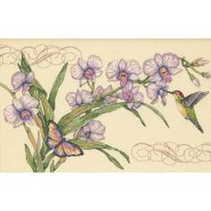 Orchids & Hummingbirds Counted Cross Stitch Kit-14